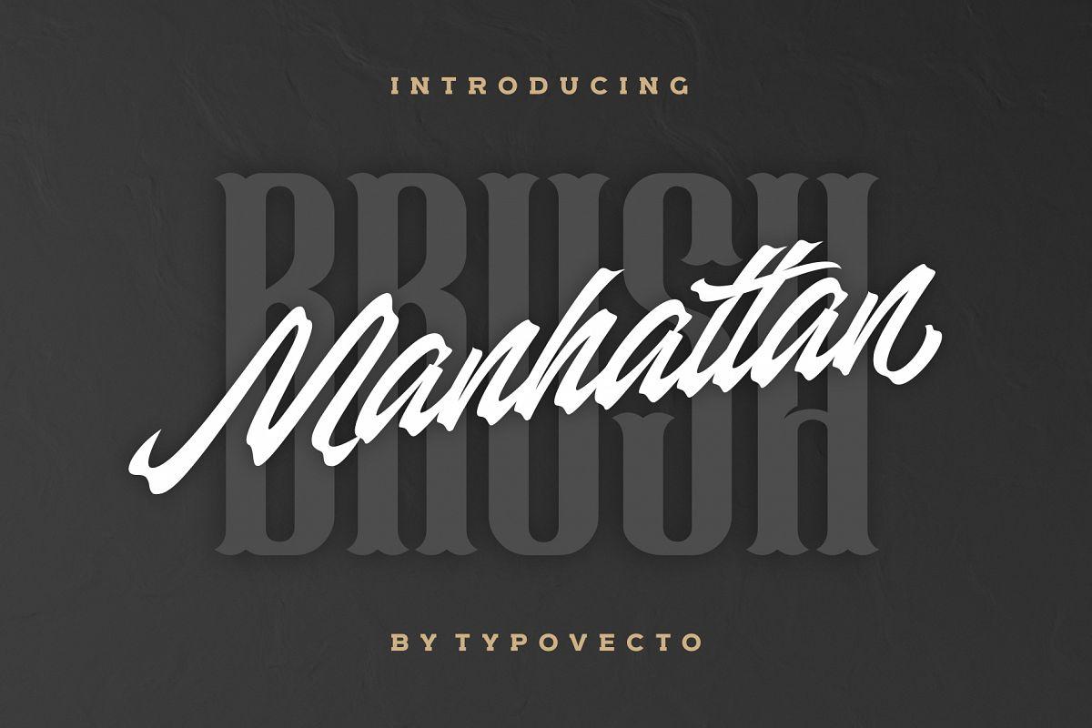 Manhattan Brush - Ink Script Font example image 1