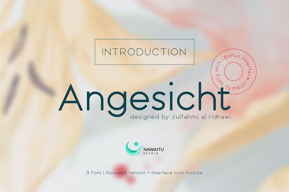 Angesicht   Modern Sans Serif example image 1