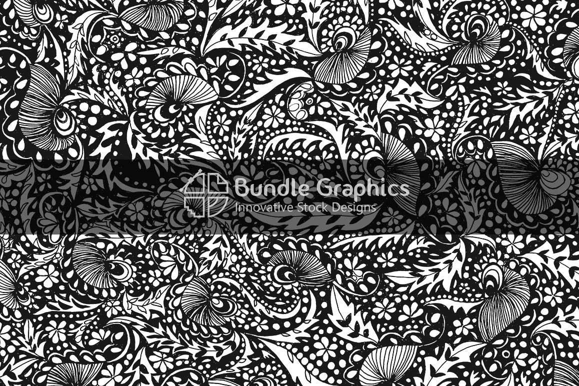 Artistic Nature Background - Handmade Ink Graphics example image 1