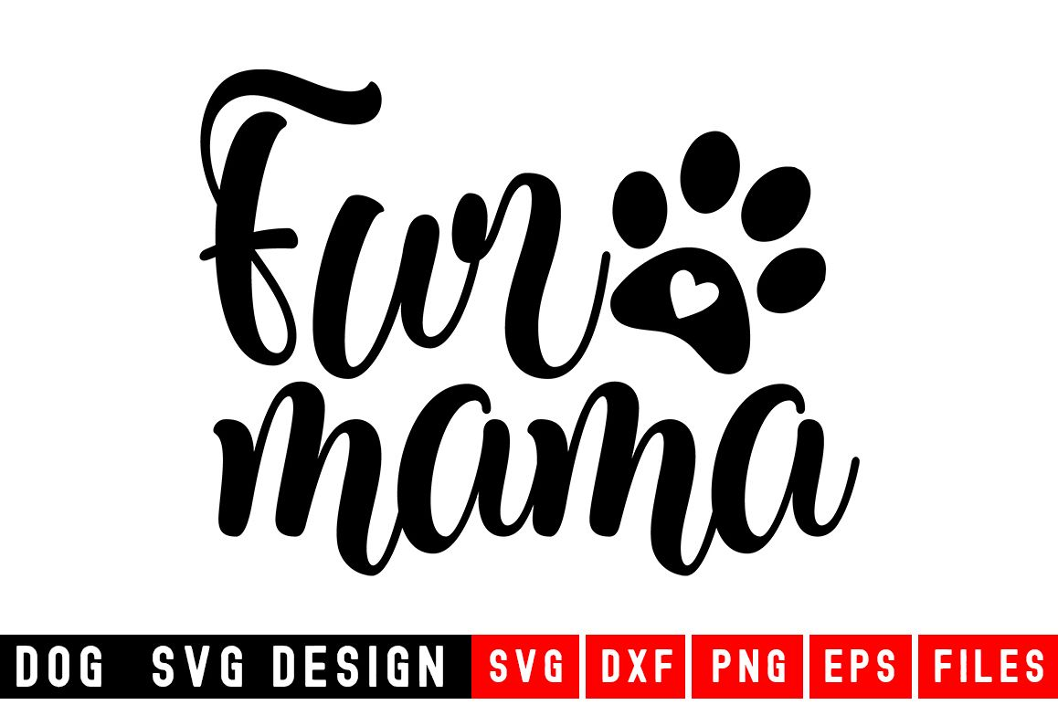Dog svg|Fur Mama|Animal and pet SVG example image 1