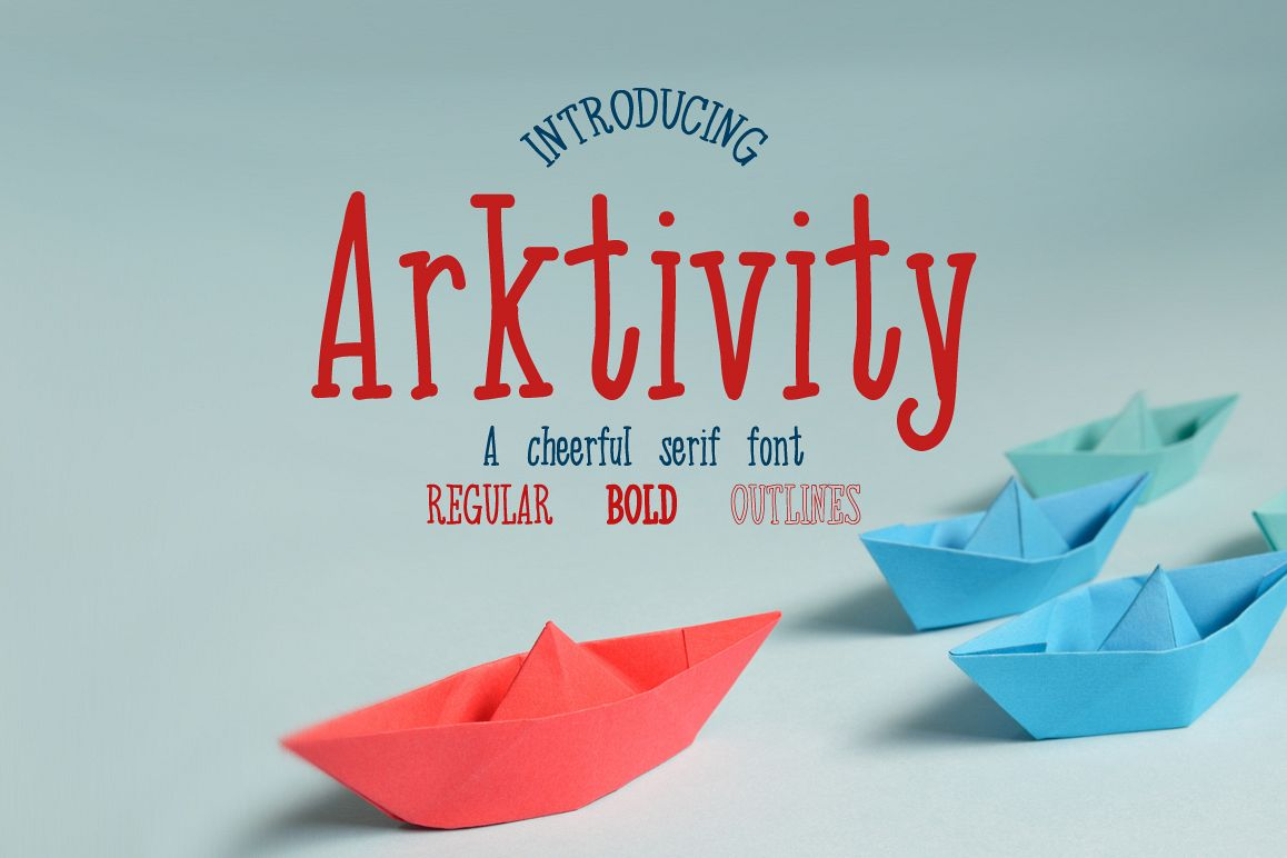 Arktivity - a cheerful handwritten serif font example image 1