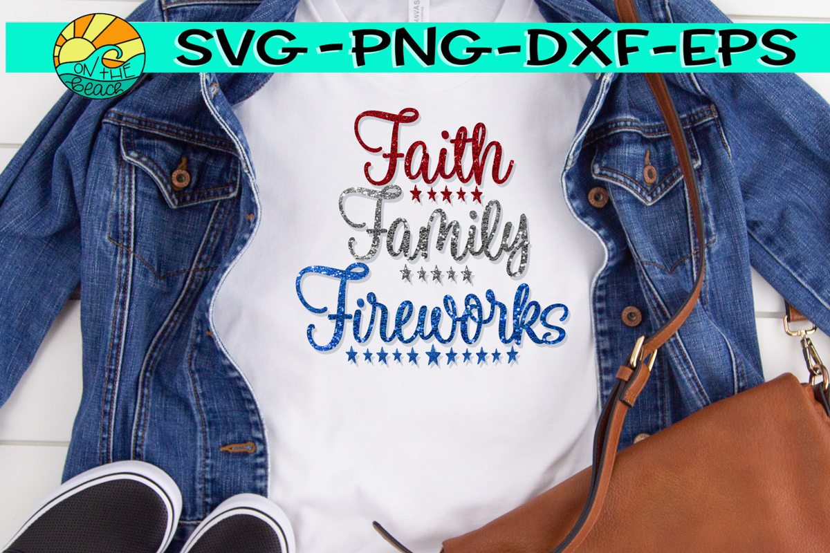 Faith - Family - Freedom -- Glitter - PNG - SVG - EPS - DXF example image 1