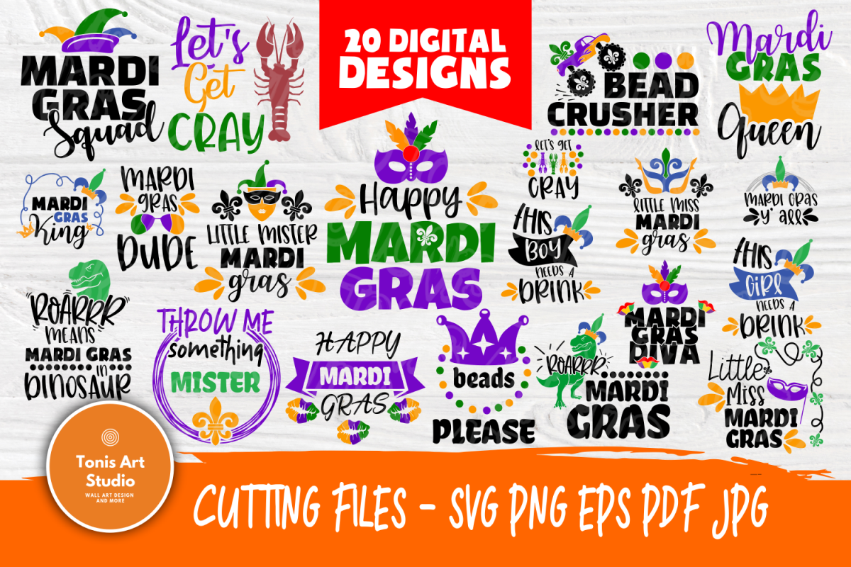 Mardi Gras Quotes | Cut Files for Crafters | Mardi Gras SVG example image 1
