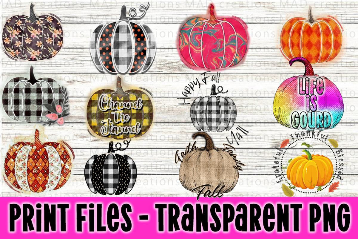 Pumpkin Bundle - Fall Bundle - Print Files Clipart example image 1