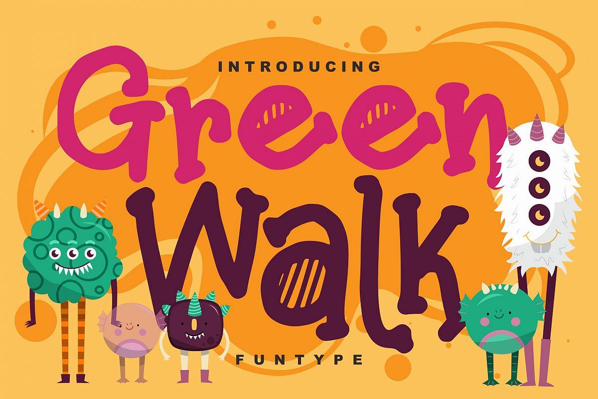 Green walk | Decorative Fun Type Font example image 1