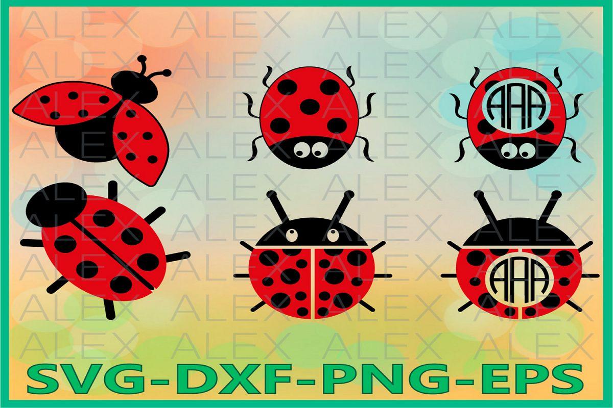 Ladybug Svg, Ladybug Frame Svg File, Ladybug clip art example image 1