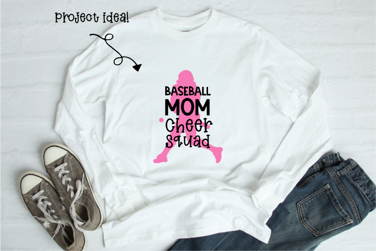 Baseball Mom Cheer Squad - Digital Design example image 1