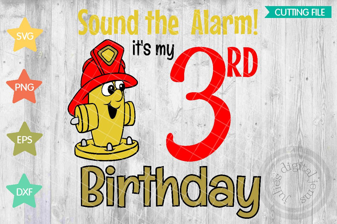 Fire Birthday Shirt 3rd SVG Svg Example Image 1