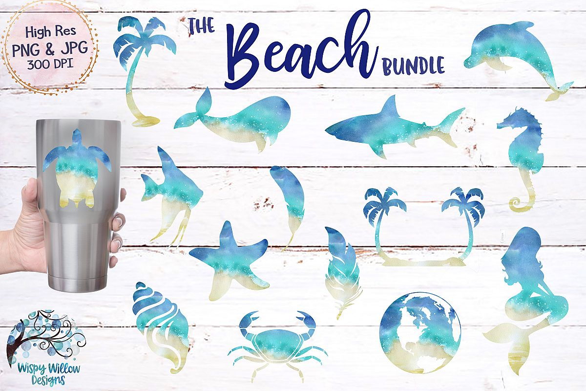 The Beach Bundle | Summer Ocean Animals |Sublimation Clipart example image 1