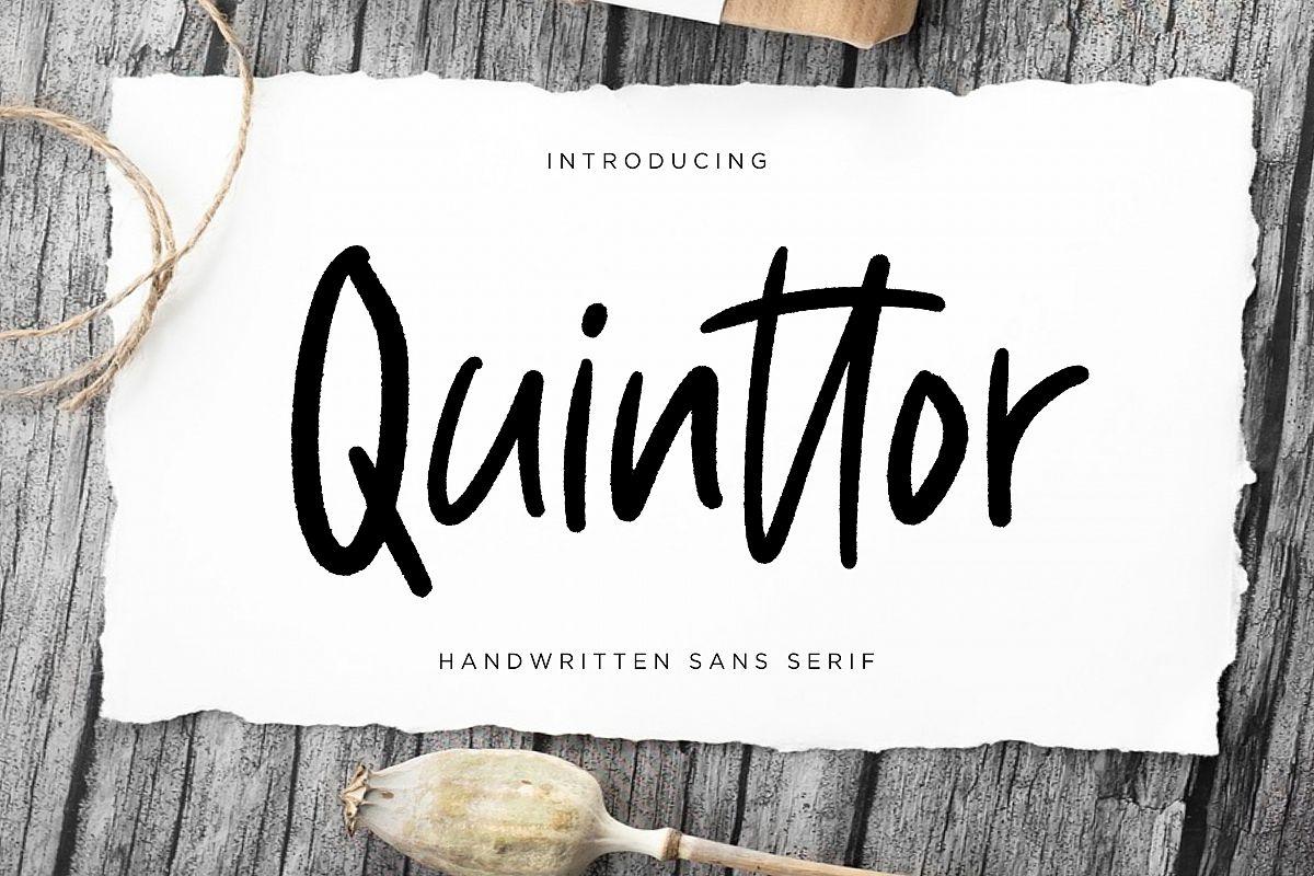 Quinttor Sans Serif example image 1