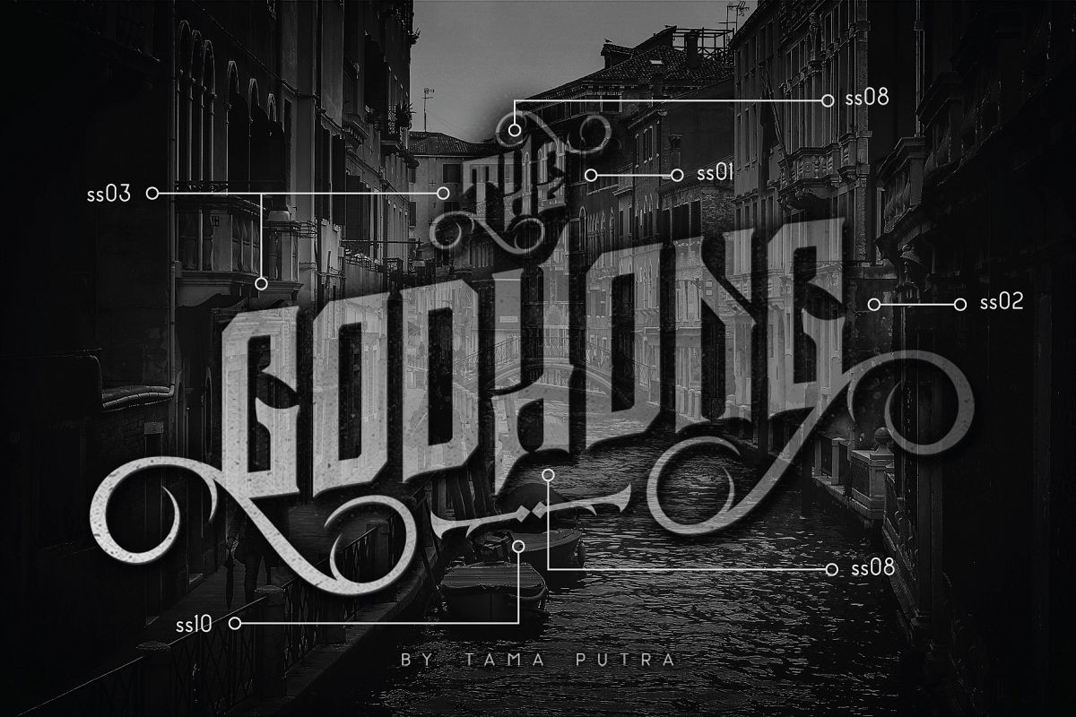 Godhong Decorative Serif Typeface example image 1
