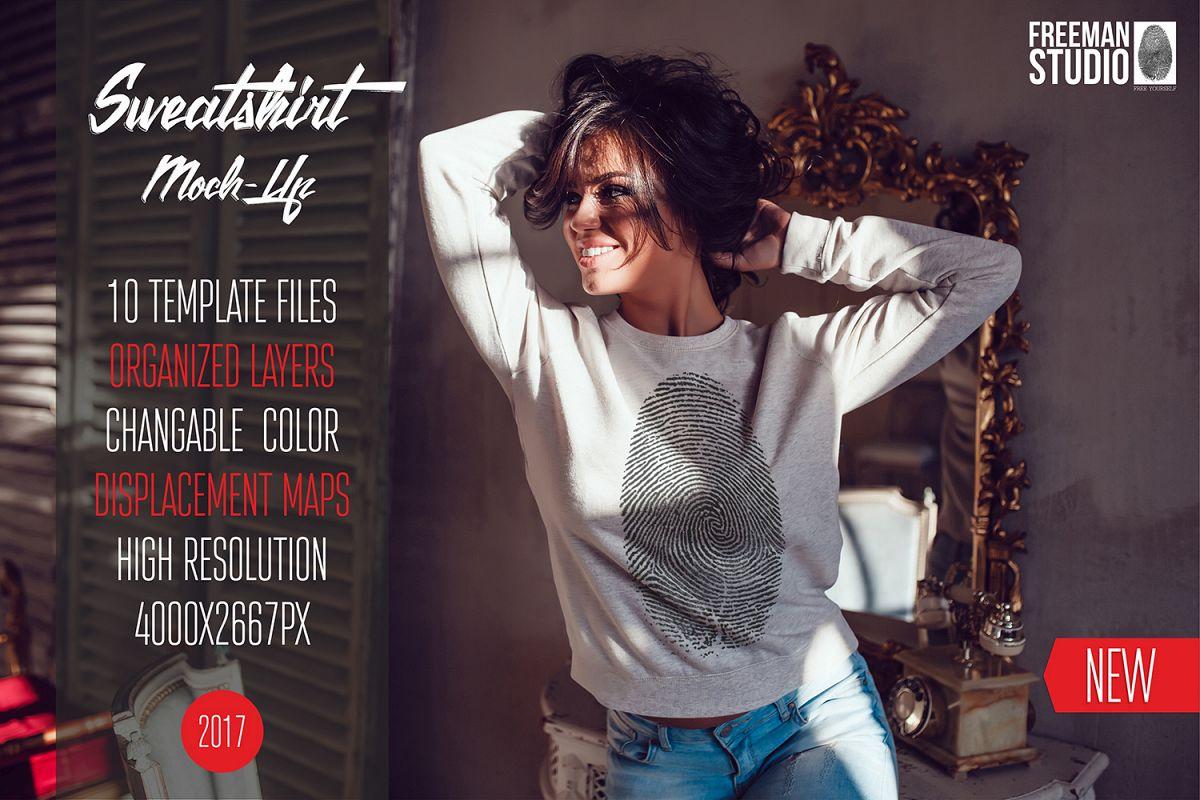Sweatshirt Mock-Up Vol.1 2017 example image 1