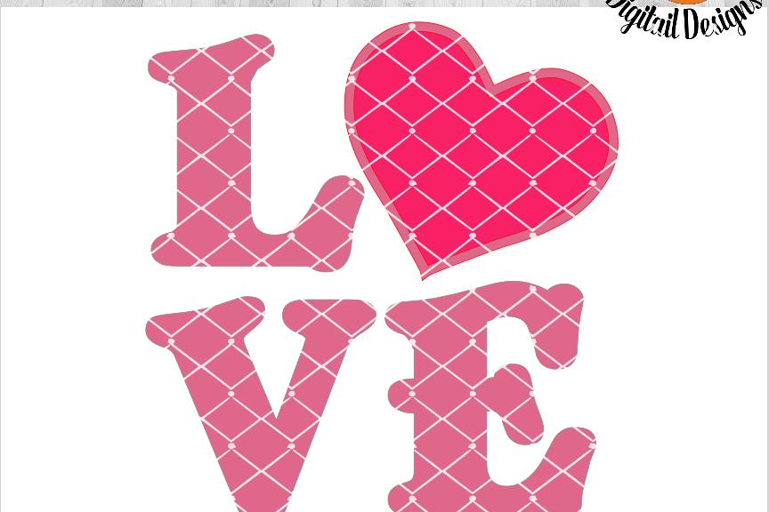 Valentine SVG - Valentine Cut File - Vinyl Appliqué Design SVG - DXF - PNG - EPS - Valentine Sign SVG - Love Sign - Love SVG - example image 1