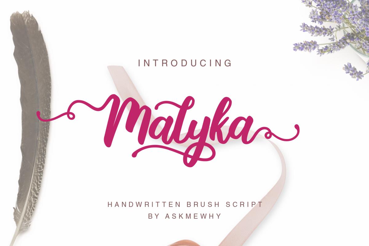 Malyka - Handwritten Script example image 1