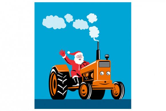 Santa Claus Driving Tractor example image 1