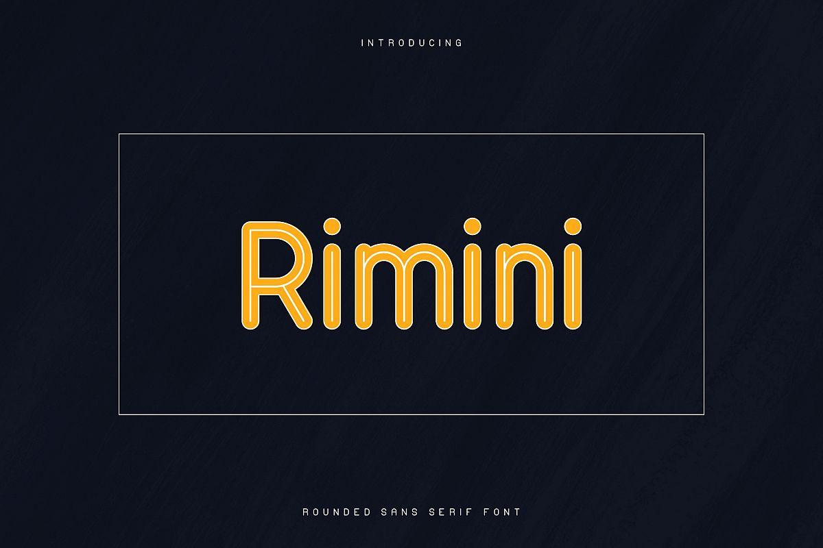 Rimini-Rounded Sans Serif font example image 1