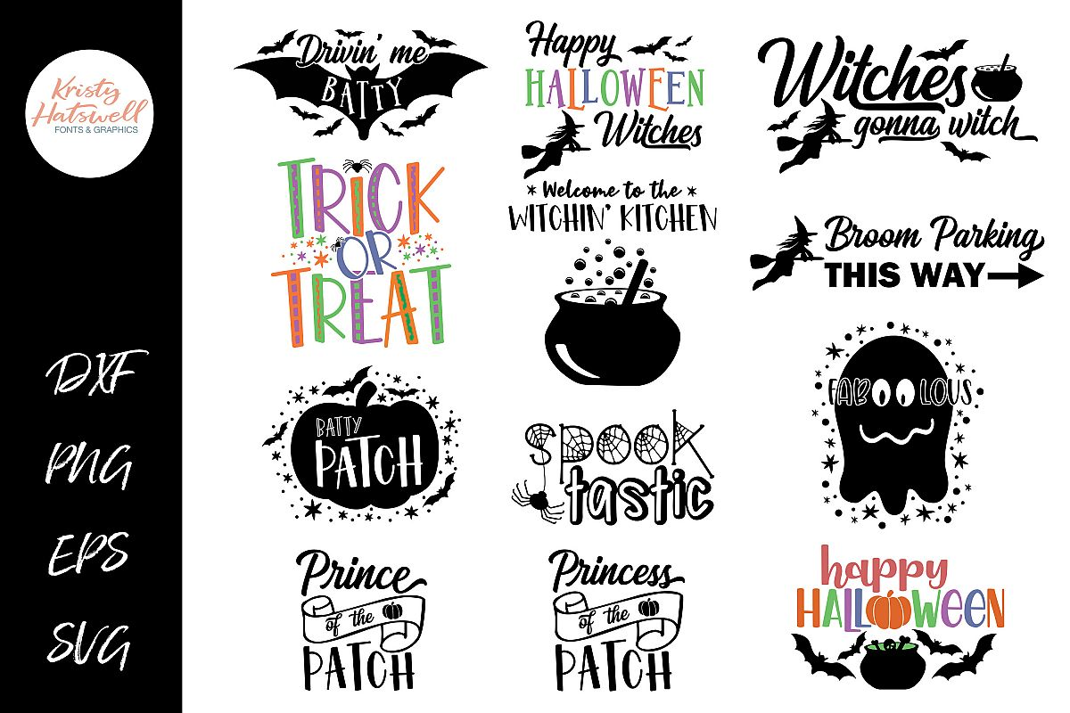 Halloween Bundle SVG DXF EPS PNG example image 1