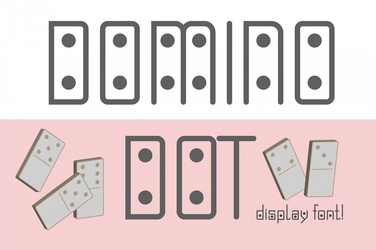 Domino-dot monospace san serif font duo example image 1