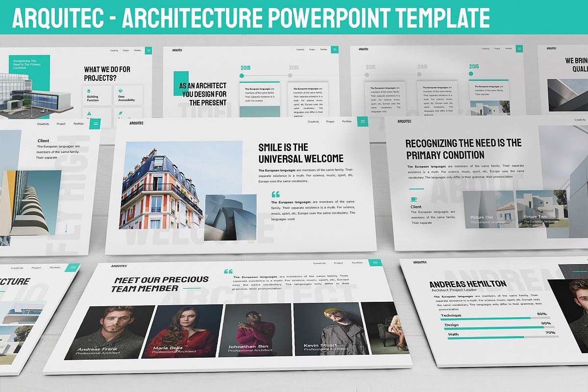 Arquitec - Architecture Powerpoint Template example image 1