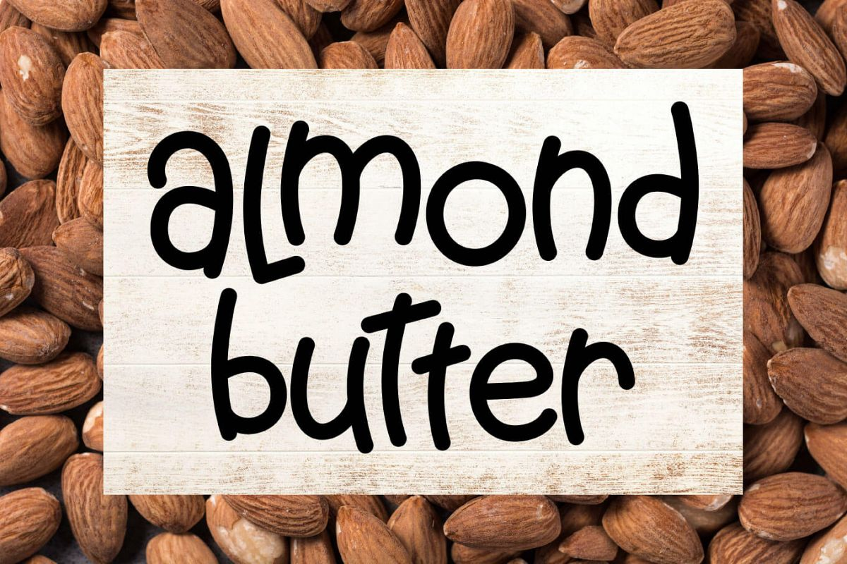 Almond Butter - A Creamy Fun Font example image 1