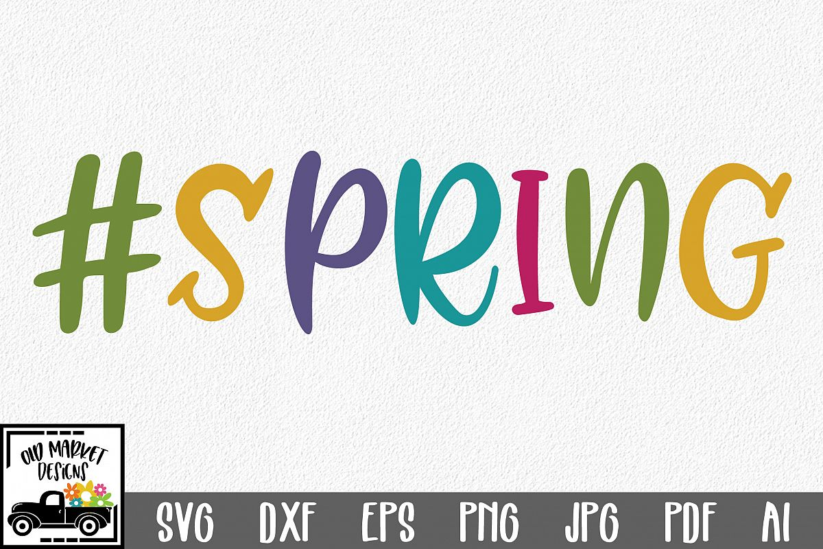 #Spring SVG Cut File - Spring SVG DXF EPS PNG JPG AI example image 1