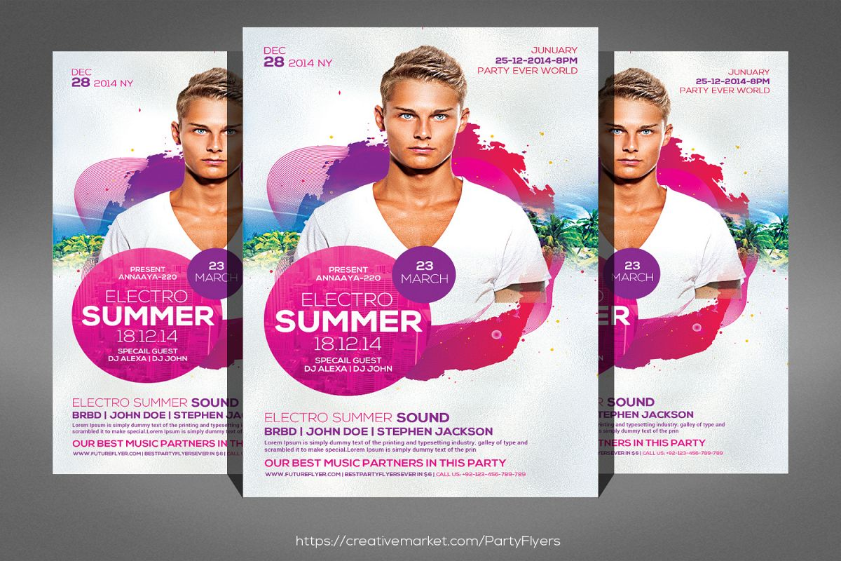Summer Electro Flyer example image 1