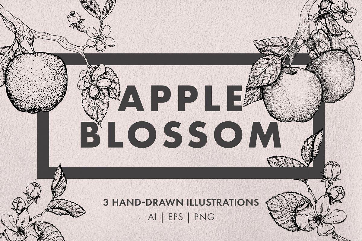 Apple Blossom Illustrations example image 1
