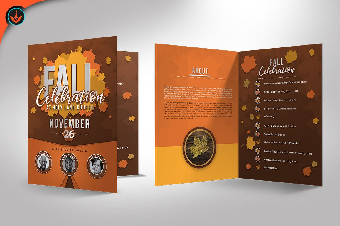fall celebration church program templat design bundles