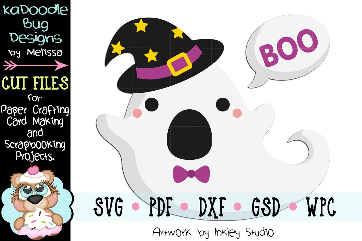 Boo Witch Ghost Cut File - SVG PDF DXF GSD WPC example image 1