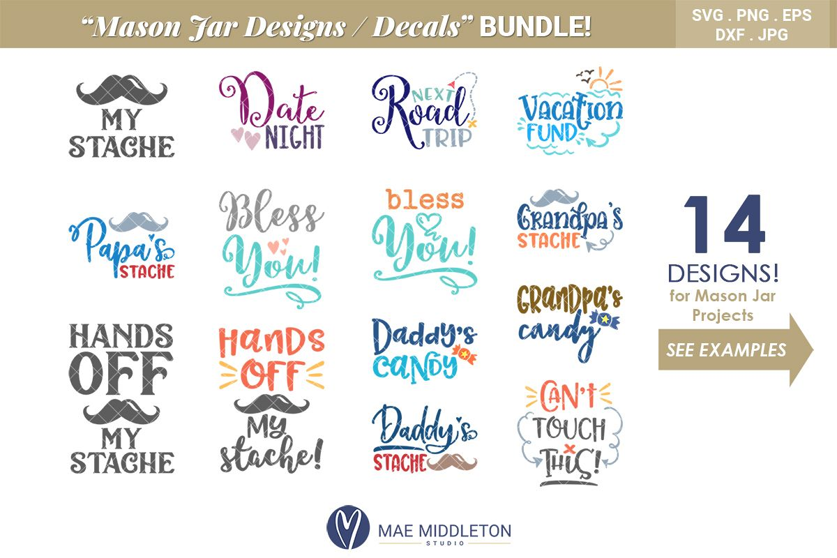 photograph regarding Mason Jar Printable Labels referred to as Mason Jar Options, Decals, printable labels svg data files Package