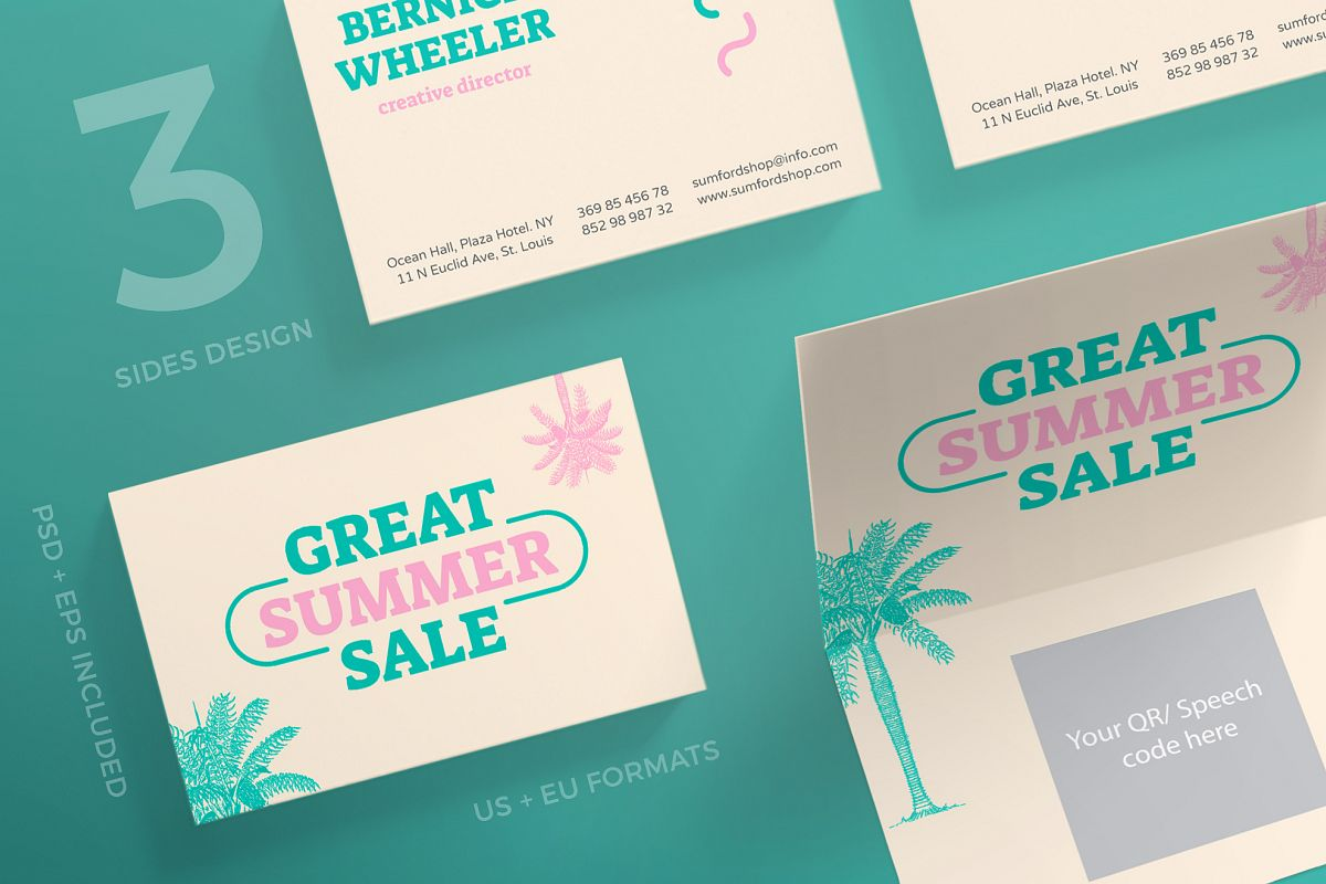 great summer sale business card design templates kit example image 1 - Business Cards For Sale