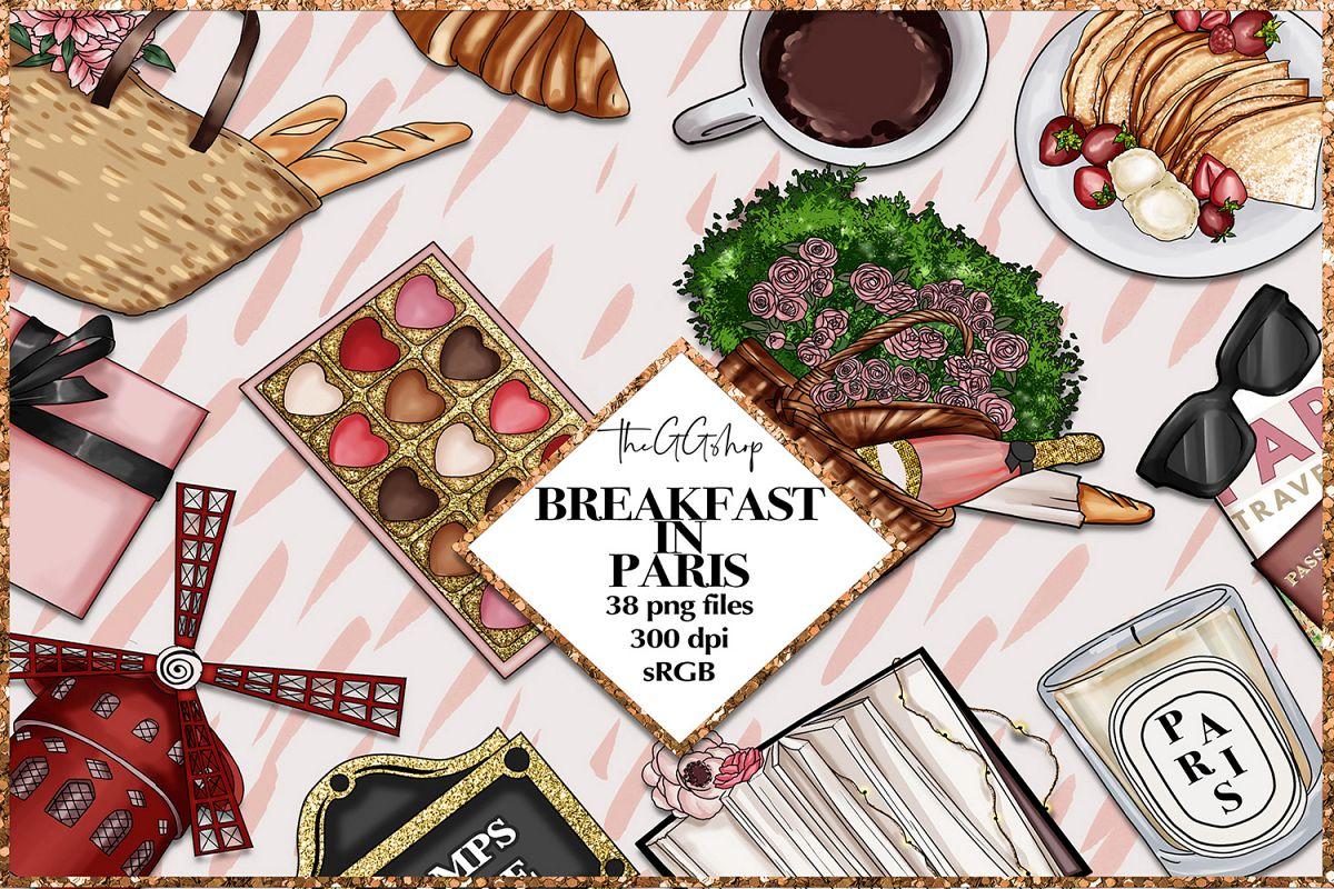 Paris Clipart Png Set example image 1