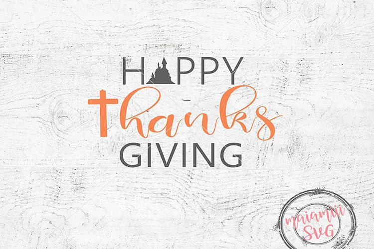 Happy Thanksgiving Svg / Give Thanks Svg / Thanksgiving Svg example image 1