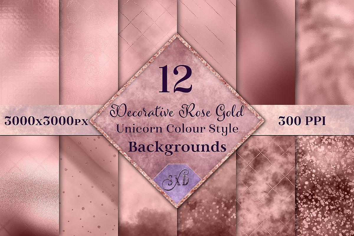 Decorative Rose Gold Unicorn Colour Style Backgrounds example image 1