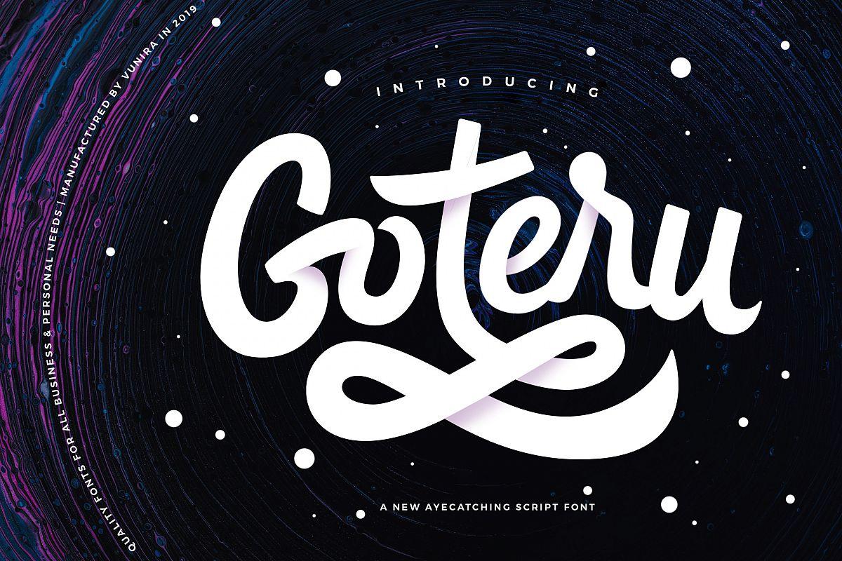 Goteru | Eyecatching Script Font example image 1