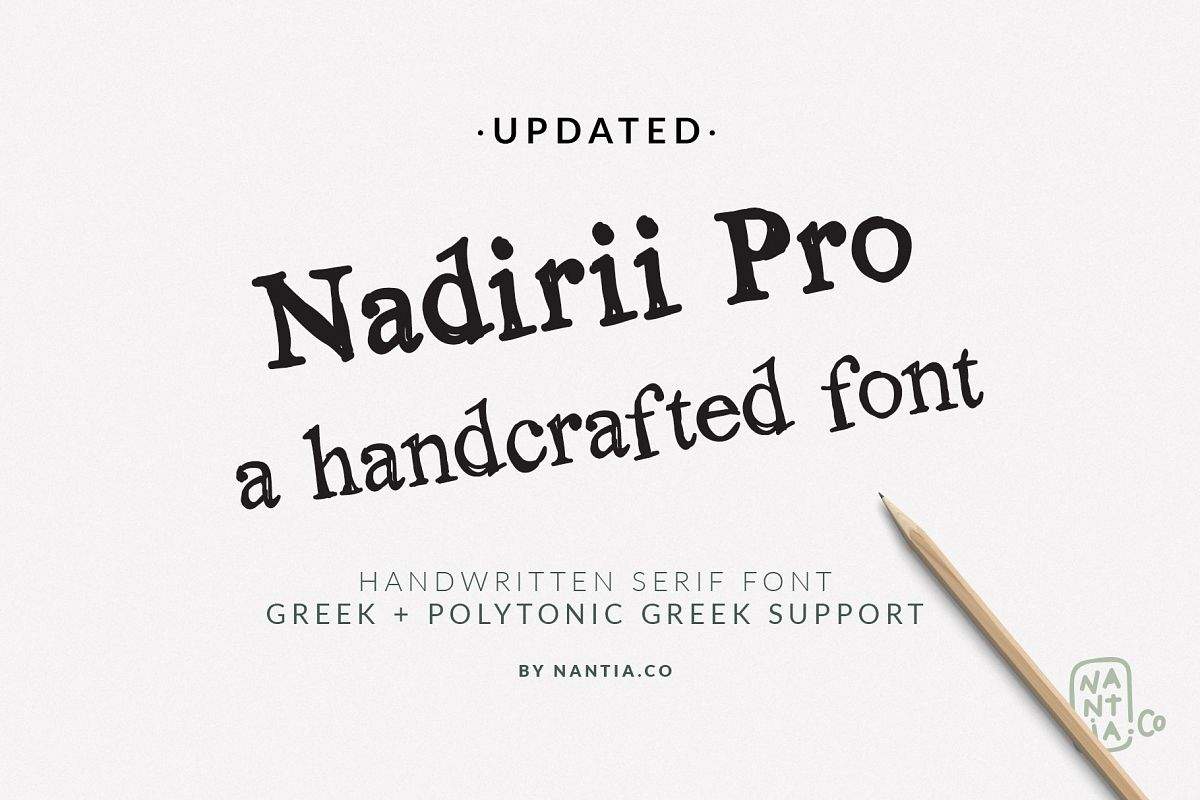 Nadirii Font | Handcrafted example image 1