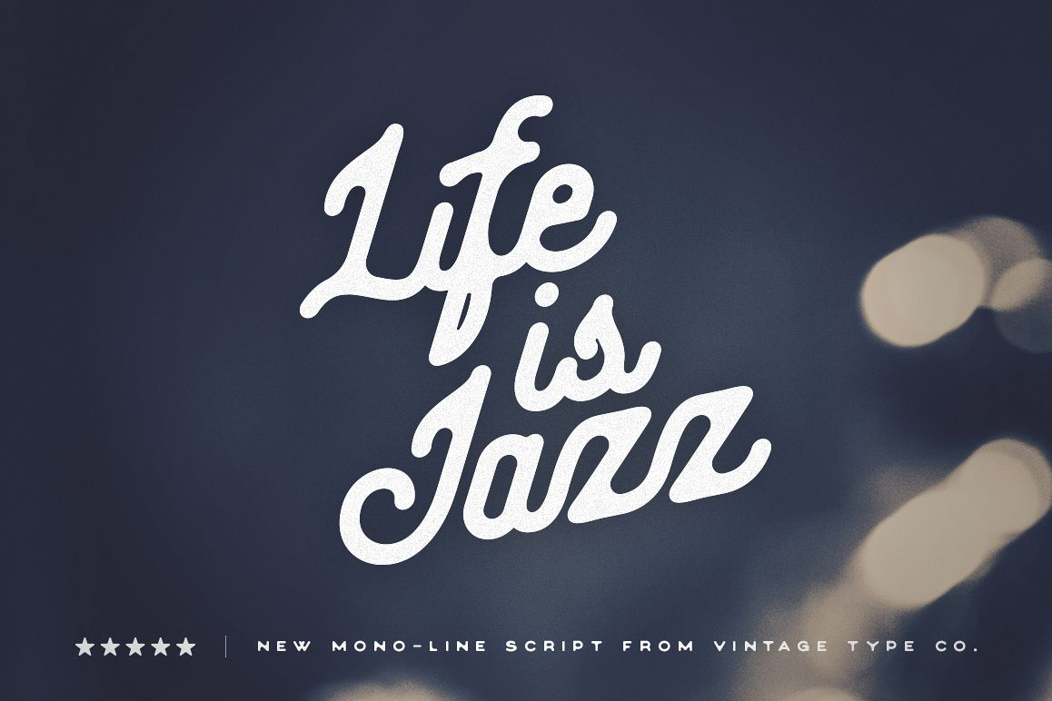 Life Is Jazz Script example image 1