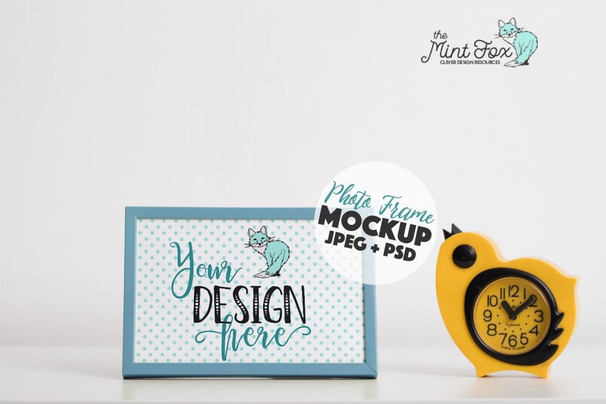 Kids Photo Frame Mockup | Frame Mock Up example image 1
