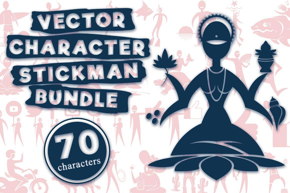 VECTOR CHARACTER STICKMAN BUNDLE example image 1