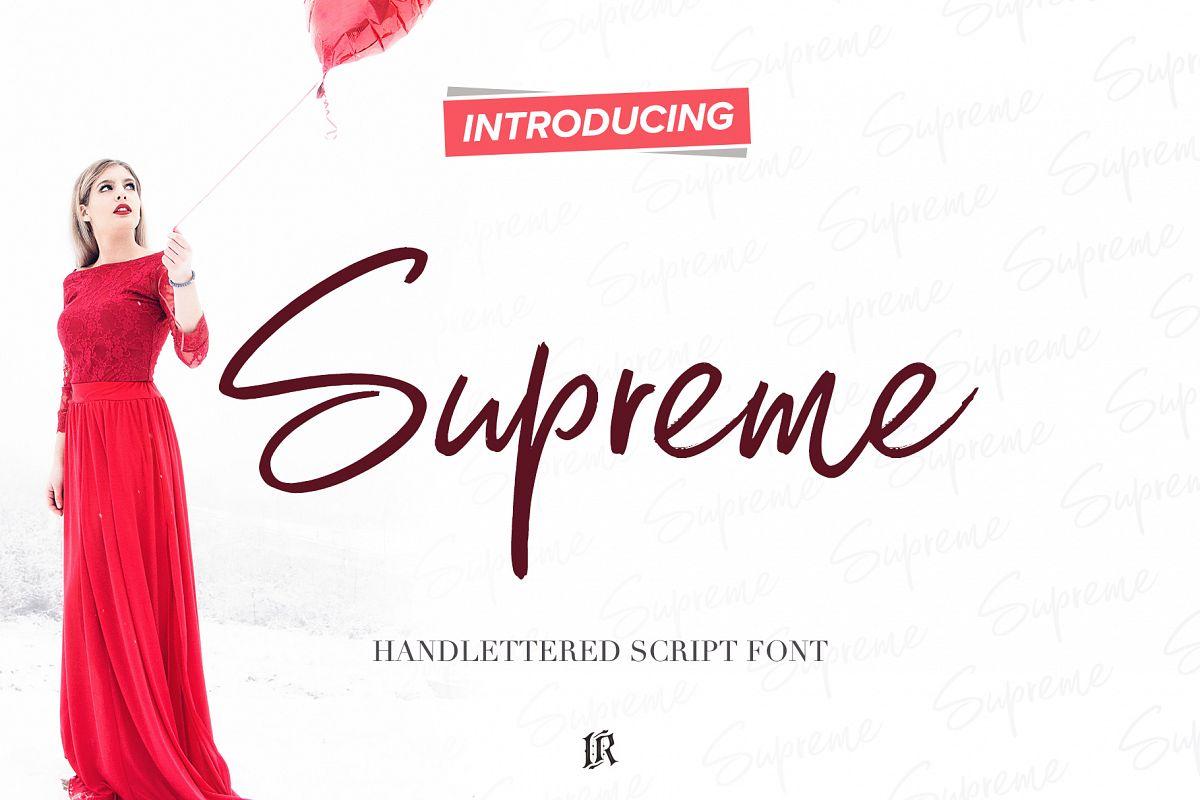 Supreme Script Font example image 1