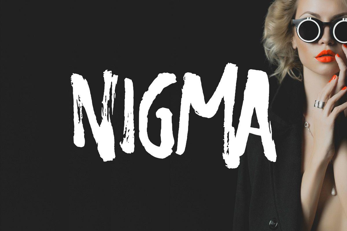 Nigma - Brush Font example image 1
