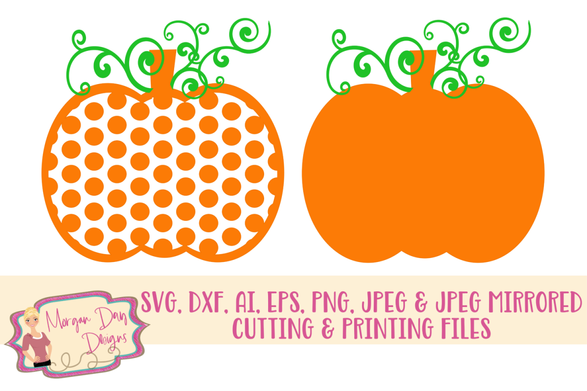 Pumpkin SVG, DXF, AI, EPS, PNG, JPEG example image 1