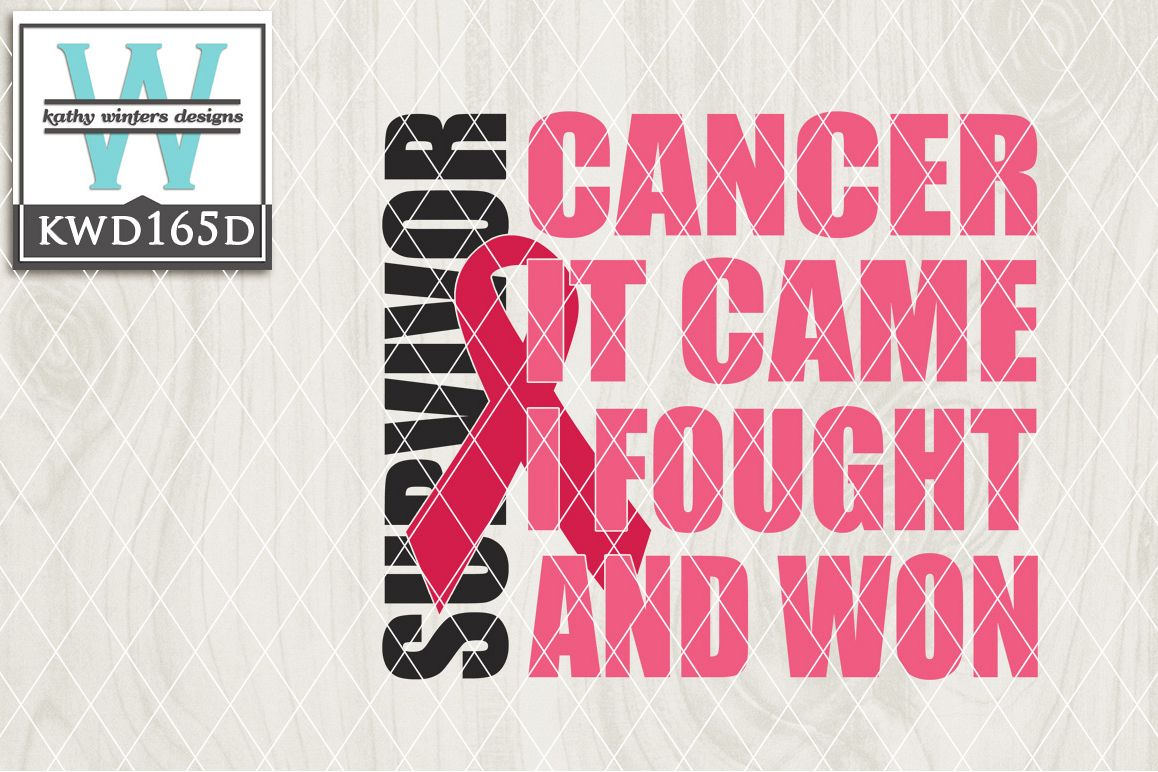 Breast Cancer Awareness Cutting File KWD165D example image 1