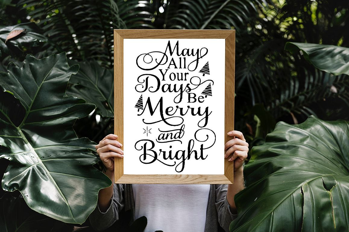 16 Christmas Quotes SVG Design Bundle example image 1