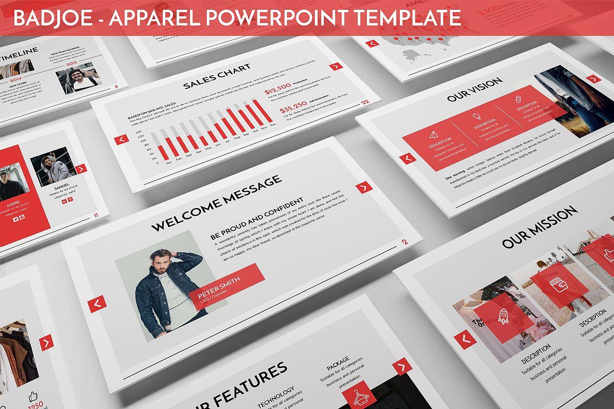 Badjoe - Apparel Powerpoint Template example image 1