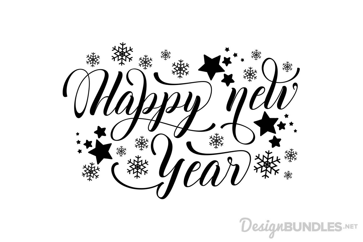 Happy New Year Font 5