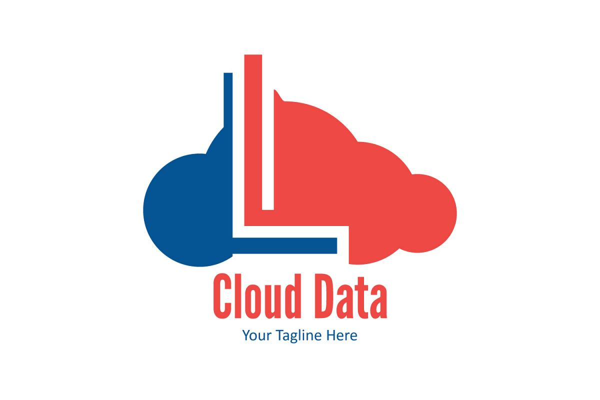 L letter cloud logo example image 1