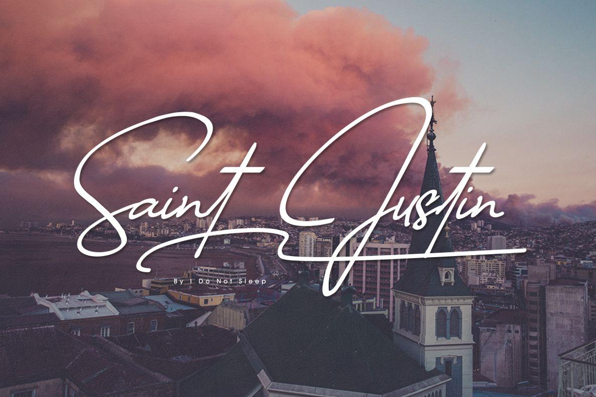 Saint Justin signature example image 1