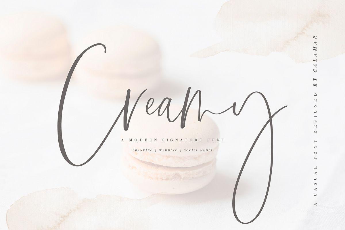 Creamy | Handwritten Font example image 1