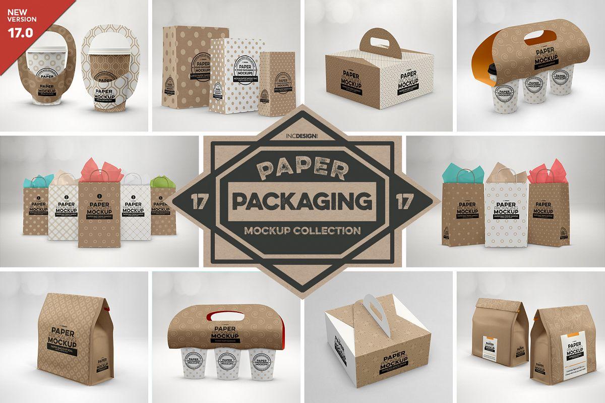 VOL. 17 Paper Box Packaging Mockups example image 1